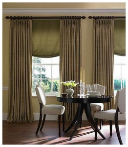Pinch Pleat Panels with Soft Romans